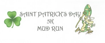 Saint Patrick's 5K Mud Run registration logo