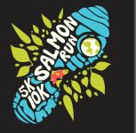 Salmon Run 5k/10k and kids run registration logo