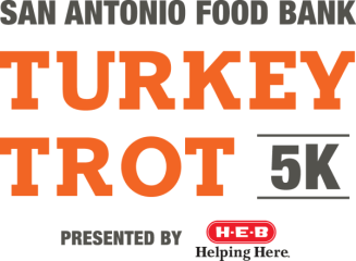 San Antonio Food Bank VIRTUAL Turkey Trot registration logo