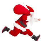 Santa Fun Run registration logo