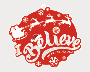 Santa's Big Day 1M 5K 10K 13.1 and 26.2 registration logo