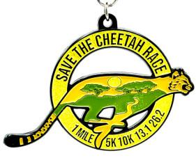 Save the Cheetah 1M 5K 10K 13.1 26.2 registration logo