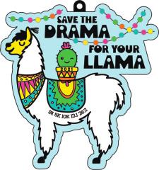 Save the Drama for Your Llama 1M 5K 10K 13.1 26.2 registration logo