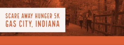 Scare away hunger costume 5k fun run and walk  registration logo