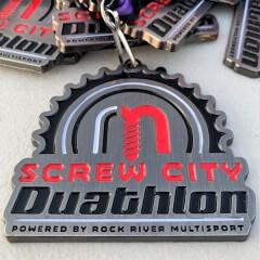 Screw City Duathlon registration logo
