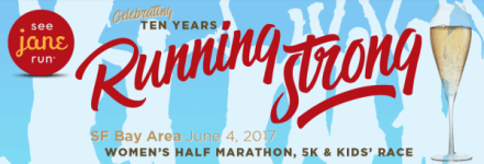 See Jane Run San Francisco Half Marathon, 5K & Kids run registration logo