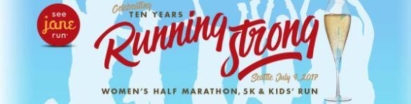 See Jane Run Seattle Half Marathon, 5K & Kids run registration logo
