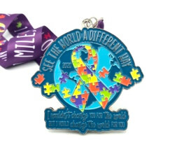 See the World 1M 5K 10K 13.1 26.2 - Autism Awareness