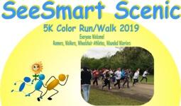 SeeSmart Scenic 5K Color Run registration logo