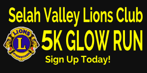 Selah Valley Lions Club 5k Glow Run During Community Days registration logo