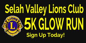 Selah Valley Lions Club 5k Glow Run During Community Days registration logo