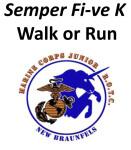 Semper Fi-ve K Walk or Run registration logo