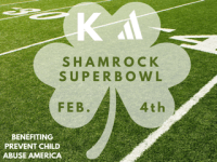 Shamrock Super Bowl registration logo