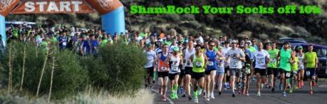 ShamROCK Your Socks off 10k registration logo