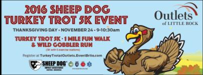 Sheep Dog Turkey Trot 5K Event registration logo