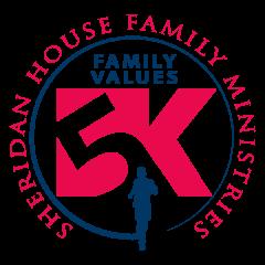Sheridan House Family Values 5K registration logo