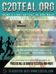 Shine A Light on Teal 5K Run/Walk Awarness registration logo