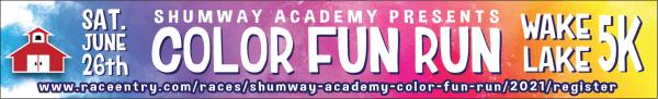 Shumway Academy Color Fun Run registration logo