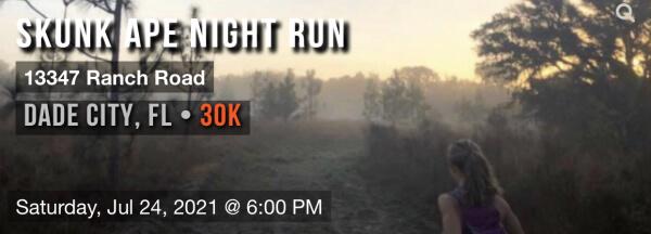 Skunk Ape Night Run registration logo