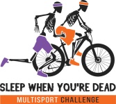 Sleep When You're Dead Multisport Challenge registration logo
