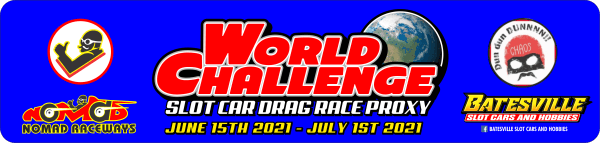 Slot Car Drag Proxy World Challenge registration logo