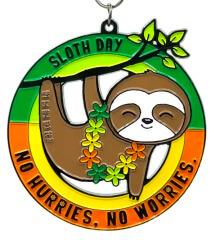 Sloth Day 1M 5K 10K 13.1 and 26.2 registration logo