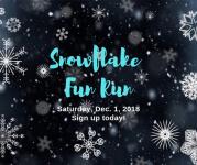 Snowflake Fun Run 5k registration logo