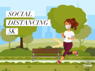 Social Distancing 5K Run and Walk registration logo