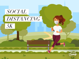 Social Distancing 5K Run and Walk registration logo