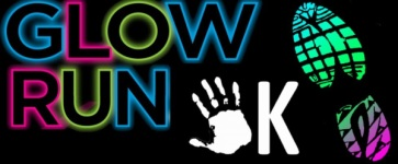 Solar Eclipse 5K Let's Glow Run/Kids Fun Run  registration logo