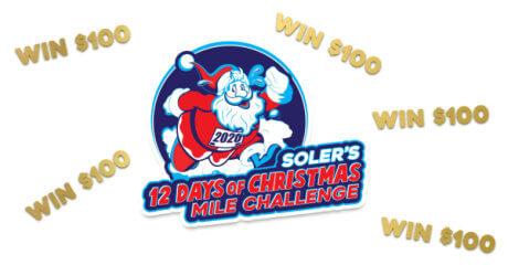 Soler's 12 Days of Christmas Mile Challenge registration logo