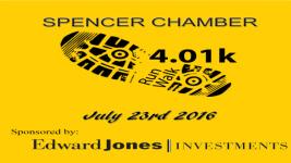 Spencer Chamber 4.01k Community Run/Walk registration logo