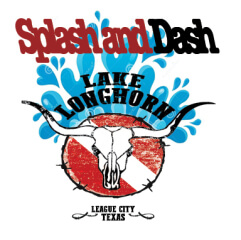 Splash & Dash Lake Longhorn registration logo