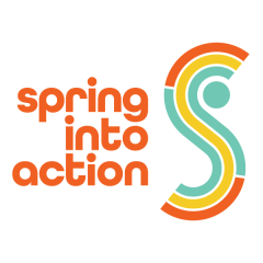 Spring Into Action - Act, Help, Move, Feed registration logo