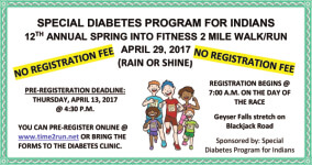 Spring Into Fitness 2 Mile Walk/Run registration logo
