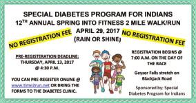 Spring Into Fitness 2 Mile Walk/Run registration logo