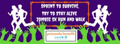 Sprint to Survive, Try to Stay Alive 5K Zombie Fun Run/Walk registration logo