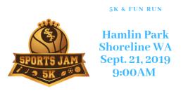 SSF Sports Jam 5K registration logo