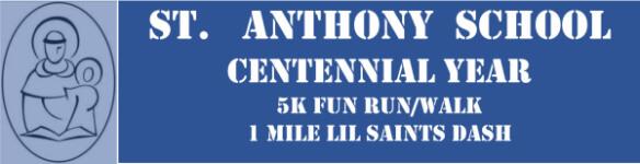St. Anthony School 5k registration logo