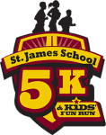 St. James School 5K & Kid's Fun Run registration logo