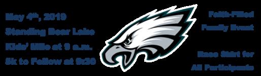 St. James/Seton Catholic School Super Eagle 5K registration logo