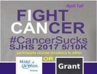 St. Johns High School CancerSucks 5/10K registration logo