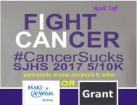 St. Johns High School CancerSucks 5/10K registration logo