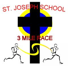 St. Joseph School 28th Annual 3 Mile, 1 Mile, and Kids Fun Run registration logo