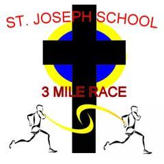 St. Joseph School 28th Annual 3 Mile, 1 Mile, and Kids Fun Run registration logo