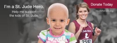5k benefiting St. Jude Children's Research Hospital registration logo