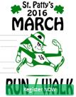 St. Patty's March, Run, Walk registration logo