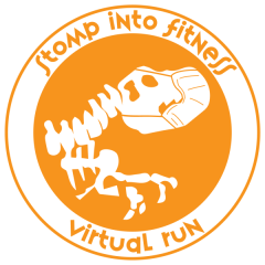 Stomp into Fitness Virtual Run registration logo