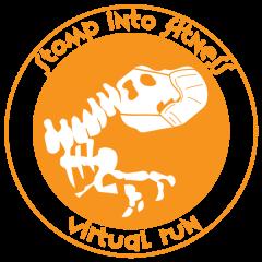 Stomp into Fitness Virtual Run registration logo