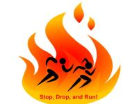 Stop Drop and Run FUN RUN registration logo